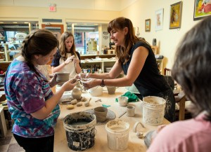 Pottery class with Molly Cantor