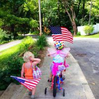 Heading to 4th of July Parade in Shelburne Falls