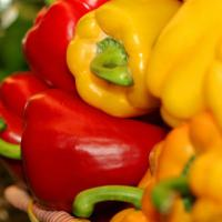 Multi-colored peppers from McCuskers Market