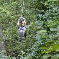 Zip-lining in Berkshire East in Charlemont MA