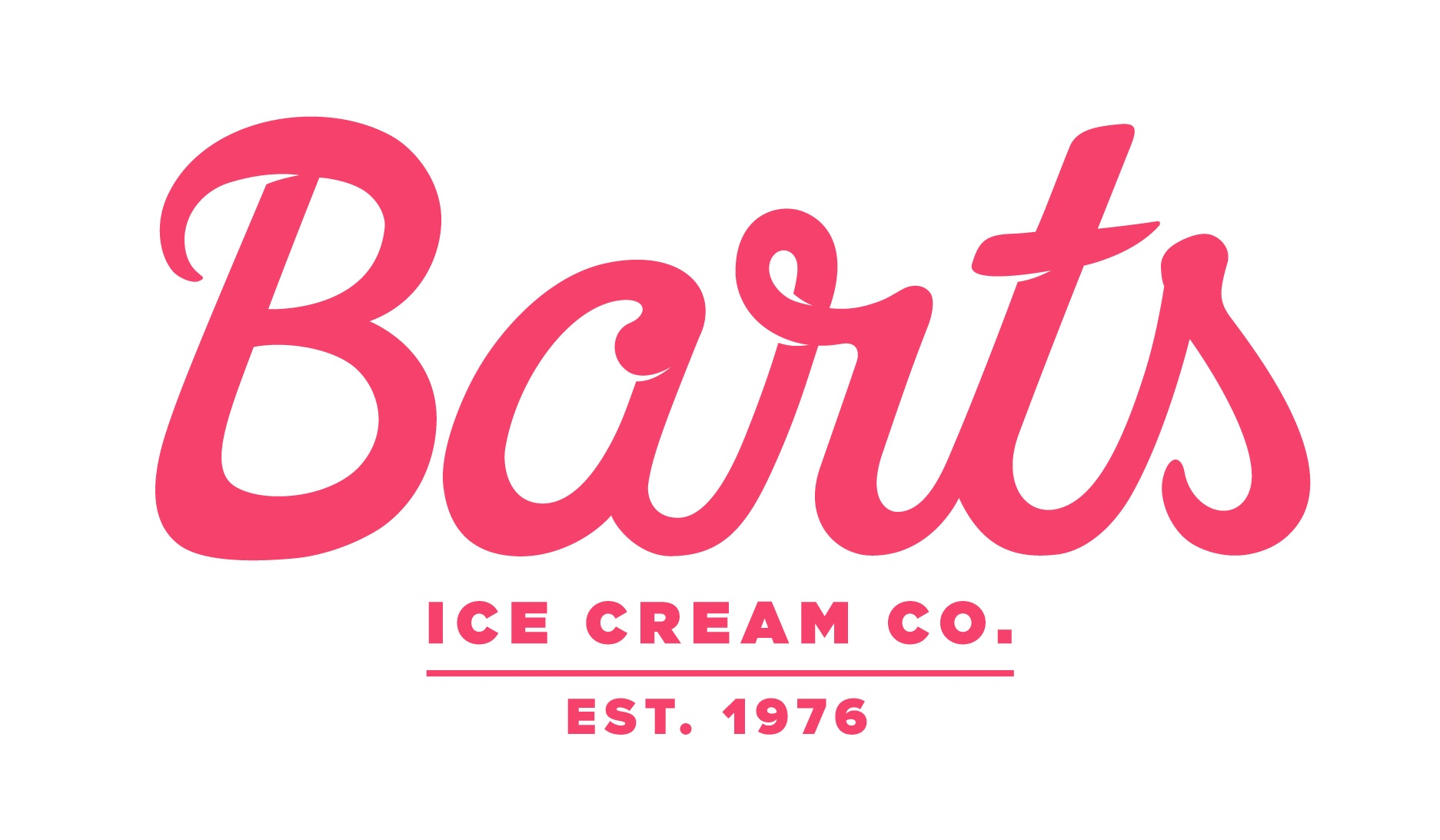 Barts Logo Ice Cream Co Red